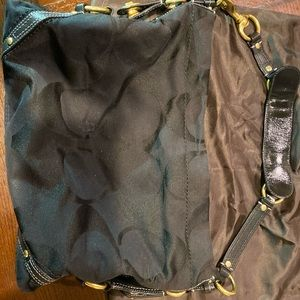 Black Coach satchel with matching Wallet